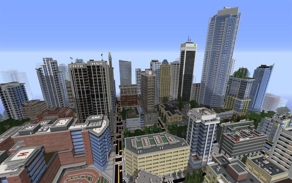 Mattupolis - a sprawling modern Minecraft city