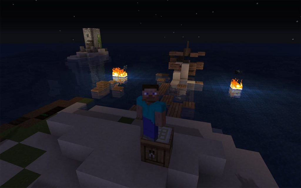 Steve stranded on Survival Island